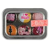 Ballet Bottle Cap 6 pc Magnet Set w/ Case