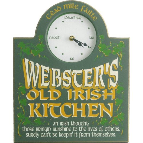 Personalized Irish Clock Custom Wooden Novelty Sign