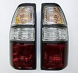 【代引き出荷可能】トヨタ ランドクルーザープラド 90系/95系/クリスタルテールライト(クリア&レッド) 左右セット新品