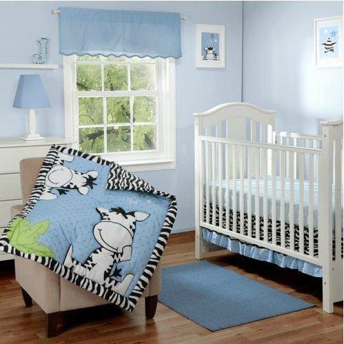 Baby Boom Zebra Crib Bedding front-764234