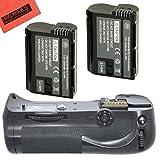 Battery Grip Kit for Nikon D800, D810 Digital SLR Camera Includes Qty 2 Replacement EN-EL15 Batteries + Vertical Battery Grip + More!!