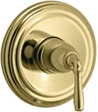 KOHLER K-T397-4-PB Devonshire Rite-Temp Pressure-Balancing Valve Trim, Vibrant Polished Brass
