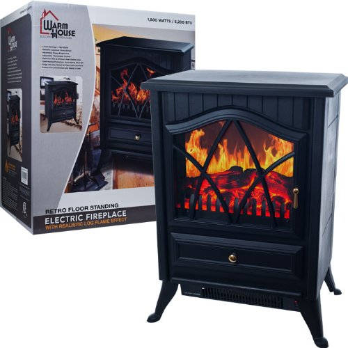 Warm HouseT Retro Floor Standing Electric Fireplace photo B00CX5PYJ2.jpg