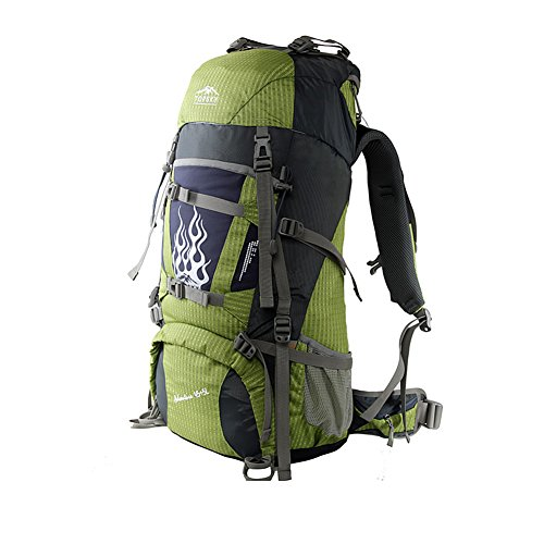 Sac d'escalade en plein air / sac à dos / sac à bandoulière en plein air de grande capacité-vert 50L