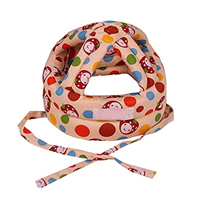 Eizur Adjustable Baby Infant Toddler Head Protection Hat Drop Resistance Kids Crash Safety Helmet Protective Headgear Cap For Children Boys Girls Learning to Walk or Run Size S/L from Eizur