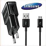 Samsung ETA0U81EBE - caricabatterie da muro da viaggio con USB e cavo Micro USB ECC1DU4BBE in bulk pack nero