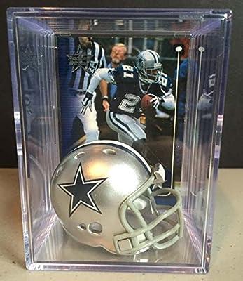 Dallas Cowboys NFL Helmet Shadowbox w/ Deion Sanders card