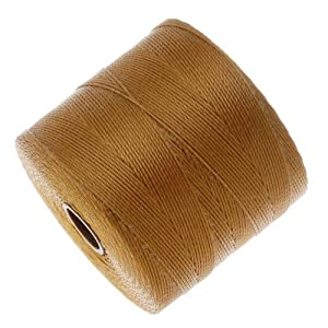 Beadsmith S-Lon Micro Macrame Twisted Nylon Cord - Gold / 287 Yard Spool