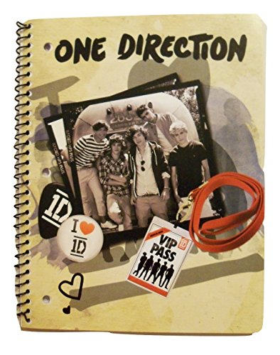 One Direction (1D) Spiral Notebook ~ Concert Tour VIP Access (70 Sheets, 140 Pages; Wide Ruled) (One Direction Journal compare prices)