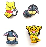 4 pcs Set of Shoe Charms Winnie the Pooh and Friends