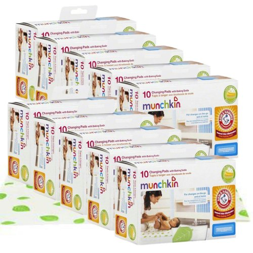 Munchkin Arm & Hammer Disposable Changing Pads, Value Pack Of 100 front-913874