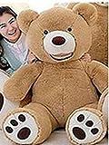 LOVESOUNDぬいぐるみ 特大 くま/テディベア 可愛い熊 動物 大きい くまぬいぐるみ/熊縫い包み/クマ抱き枕/お祝い/ふわふわぬいぐるみ (130cm, ブラウン)