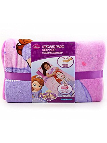 Sofia The First Throw And Pillow Set : Disney Sofia The First Deluxe Memory Foam Toddler Nap Mat Blanket & Pillow - Kids Home Garden ...