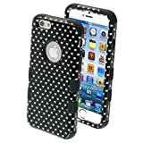 Product B00MP6BPVA - Product title MYBAT Tuff Hybrid Protector Cover for iPhone 6 - Retail Packaging - Vintage Heart Dots/Black