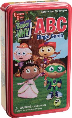 Super WHY Bingo Game
