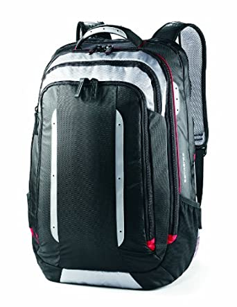Samsonite Luggage Viz Air XL TSA Backpack, Black/Silver Grey