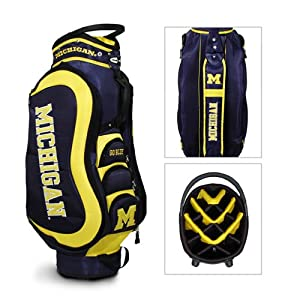 Brand New Michigan Wolverines NCAA Cart Bag - 14 way Medalist by Things for You