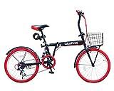 選べる15色! 折りたたみ自転車 20インチ シマノ製6段変速 通勤 通学 街乗り メンズ レディース