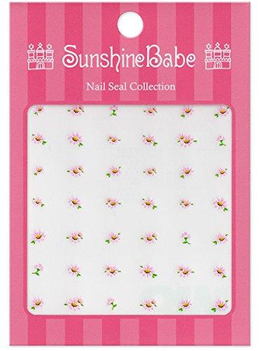 SunshineBabe ネイルシール デイジー ピンク