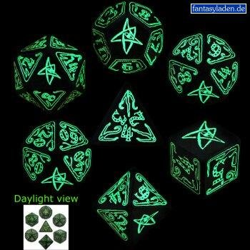 Call Of Cthulhu: Green And Glow-In-The-Dark Dice Set