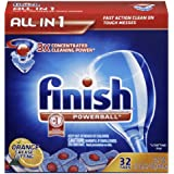Finish Powerball Tabs Dishwasher Detergent, Orange Scent, 32-Count