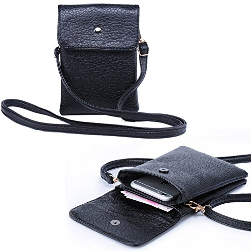 05. Women Teen Girl's Leather Crossbody Bag Wallet Purse with Shoulder Strap for iPhone Galaxy Note