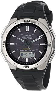 Casio Men's WVA470J-1ACF Waveceptor Solar Atomic Ana-Digi Sport Watch