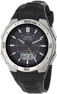 Casio WVA470J-1ACF 卡西欧100米防水太阳能电波运动手表 $62.25