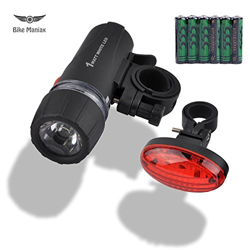 Bicycle Headlight Taillight Combo - Front Headlight -