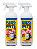 KIDS 'N' PETS Brand Stain & Odor Remover, two pack 27 fluid ounces (54 ounces total)