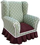 Angel Song Child Wingback Chair in Lotsa Dots Grass
