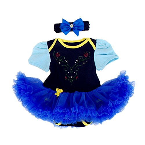 DQdq Baby Girls' Tutu Dress Halloween Costume Blue Frozen