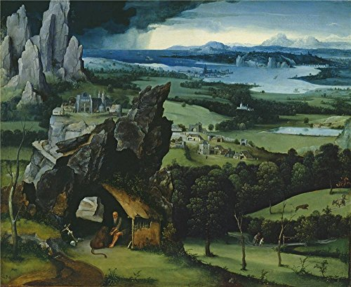 Oil Painting 'Patenier Joachim Landscape With Saint Jerome 1515 19 ' Printing On Polyster Canvas , 8 X 10 Inch / 20 X 25 Cm ,the Best Game Room Decor And Home Artwork And Gifts Is This Imitations Art DecorativePrints On Canvas