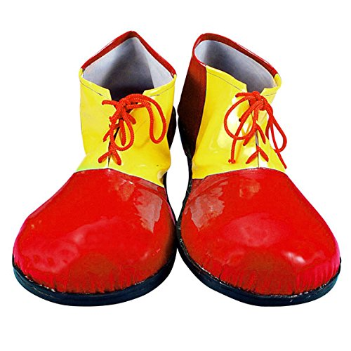 Vinyl Clown Shoes - Red/Yellow