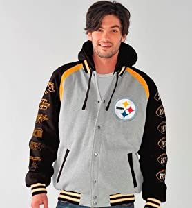 Pittsburgh Steelers NFL ROY Super Bowl Commemorative Detachable Hooded Jacket by G-III Sports