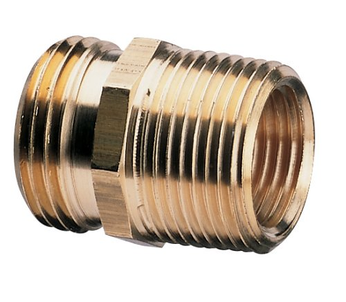 Nelson Brass Industrial Pipe and Hose Fitting for Female Hose to 3/4-Inch Female NPT or Female Hose to 1/2-Inch Male NPS, Double Male 50572 image