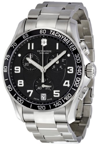 Victorinox Swiss Army Men's 241494 Black Dial Chronograph Watch