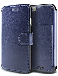 Taken Iphone 6 Leather Case Pu - Iphone 6s Wallet Case - Card Slot - Ultra Slim (Sapphire Blue)