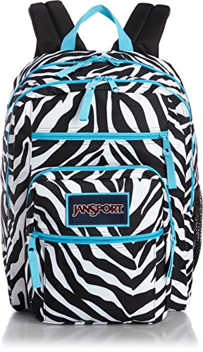 JanSport Big Student Classics Series Backpack - MISS ZEBRA / MAMMOTH BLUE