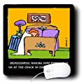 3dRose LLC 8 x 8 x 0.25 Inches Mouse Pad, Dog Alarm Clock (mp_36686_1)