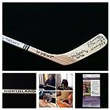 Bobby Hull Tony Esposito Denis Savard Pierre Pilote Chicago Blackhawks Signed Autograph Northland Hockey Stick. JSA COA