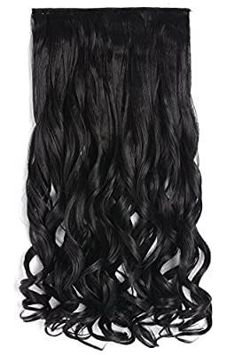 "OneDor® 20"" Curly 3/4 Full Head Synthetic Hair Extensions Clip On/in Hairpieces 5 Clips 140g"
