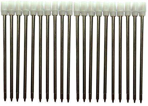 mengran® Penna Roller con Inchiostro Gel Ricariche per penne a sfera mengran, Penne Roller con Inchiostro Gel Ricariche (Confezione da 20, inchiostro nero)