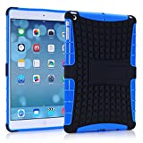 Vogue Shop Ipad Air Case, Ipad Air Case Cover - Ipad 5 Shock-absorption / Impact Resistant Hybrid Dual Layer Armor Defender Protective Case Cover with Built-in Kickstand for Apple Ipad Air 5th Gen 2013 (Three Month Warranty) (Gift for Screen Protector Film and Clean Cloth) (ipad air blue)