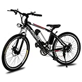 Ancheer Power Plus Electric Mountain Bike with Lithium-Ion Battery Mountain Bike