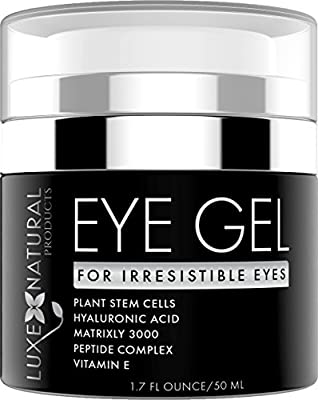 BEST Eye Gel - For Irresistible Eyes - Powerful Anti-Aging Formula Infused With All Natural Ingredients To Reduce Wrinkles, Under Eye Bags, Puffiness & Dark Circles - 1.7 fl ounces/50 ml