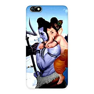 Gorgeous Bholenath And Ganesha Multicolor Back Case Cover for Honor 4X