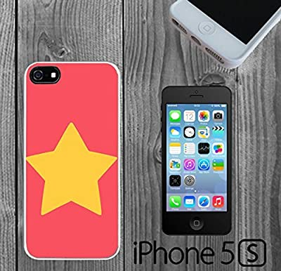 Steven Universe Star Custom made Case/Cover/skin FOR iPhone 5/5s - White - Rubber Case ( Ship From CA)
