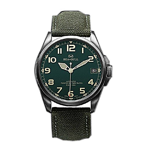 Seagull Automatic Military Mens Watches D813.581 Top Brand Luxury Army Watch