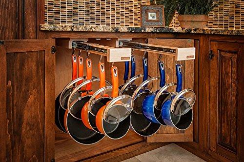 Glideware Cookware Organizer with 7 Hooks